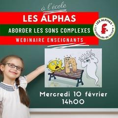 """[MARDI PÉDAGOGIE]  Vous êtes enseignant et souhaitez aborder les sons complexes en classe avec les Alphas, un des acquis en classe de CP ? Participez à notre webinaire demain, mercredi 10 février, à 14h00 ! Nous vous expliquerons comment utiliser les Alphas afin de faire découvrir les sons complexes aux enfants, phase décisive pour lire des textes contenant des mots avec ces sons complexes que sont """"ou"""", """"an"""", """"in""""...  Envoyez-nous un message si vous souhaitez participer !  *Ces webinaires sont destinés aux enseignants pour un usage en classe. Si vous êtes parent, nous vous invitons à vous rendre sur la page YouTube des Éditions Récréalire afin de visionner en replay nos Facebook Live sur la méthode de lecture.  #lesalphasofficiel #lesalphas #methode #lecture #recrealire #editionsrecrealire #edition #pedagogie #apprendre #son #soncomplexe #cp #enseignant #ecole"""