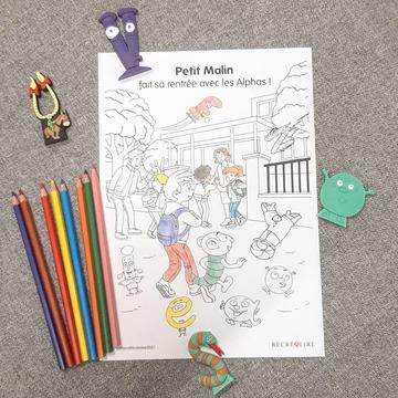 [JEUDI COULISSES]   Journée spéciale aujourd'hui puisqu'il s'agissait de la rentrée pour beaucoup d'enfants, d'enseignants à l'école ou de parents à la maison !   Nous espérons qu'elle a été joyeuse pour tous et souhaitons une belle année pleine d'apprentissages aux enfants !   Et si on en profitait pour une petite activité de coloriage ? Téléchargez ce coloriage et découvrez-en d'autres sur notre site www.editionsrecrealire.com, onglet LES ALPHAS > LES RESSOURCES > Coloriages.   #lesalphasofficiel #lesalphas #methode #lecture #recrealire #editionsrecrealire #edition #pedagogie #apprendre #lire #enfant #ecole #rentree #dessin #coloriage #classe