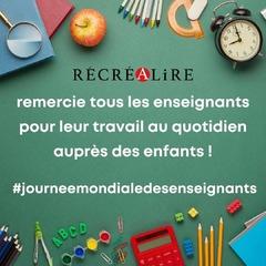 [MARDI PÉDAGOGIE]   Le 5 octobre, c'est la journée mondiale des enseignants ! Ils sont nombreux à œuvrer chaque jour pour le bien-être des enfants afin de les guider, de développer leur soif d'apprendre ou de les aider à grandir.   Un grand merci à tous les enseignants qui participent à l'épanouissement des enfants par leurs actions !   #lesalphasofficiel #lesalphas #methode #lecture #recrealire #editionsrecrealire #edition #pedagogie #apprendre #lire #enfant #prof #merci #journeemondialedesenseignants #enseignant #ecole